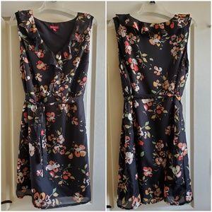 Merona black floral dress